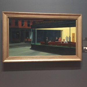 Nighthawks Painting