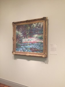Claude Monet Bridge Over Pond of Lillies