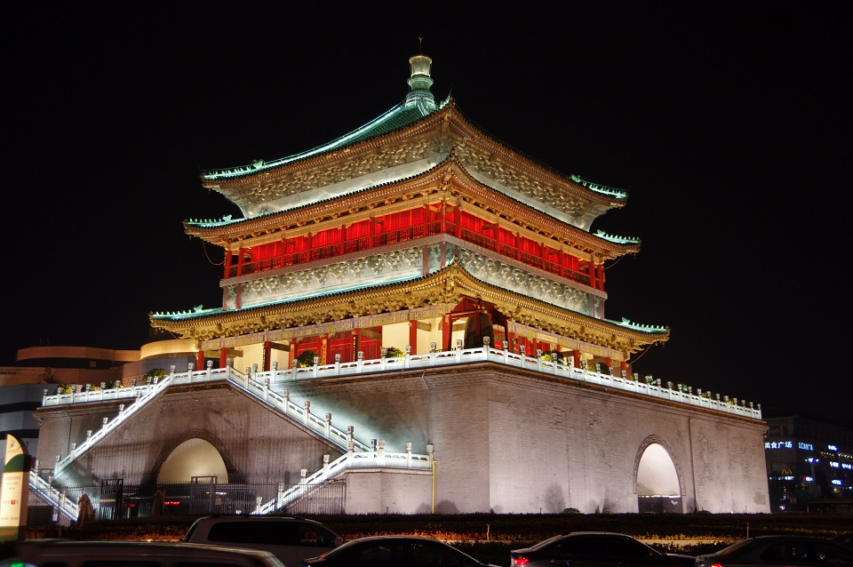xian-bell-tower-at-night